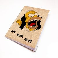 """Блокнот крафт """"Гомер Симпсон"""" А5 (арт. 497)"""