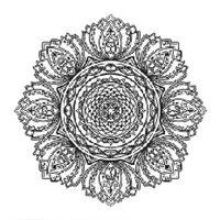 "Холст на подрамнике с эскизом ""Мандала"" (300х300 мм; арт. 1411168)"