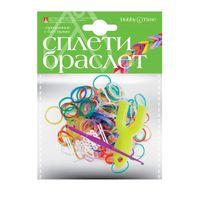 """Набор для плетения из резиночек """"Прозрачные с блестками"""" (300 шт.)"""
