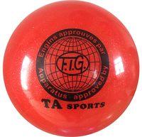 Мяч для художественной гимнастики RGB-102 (15 см; красный с блёстками)