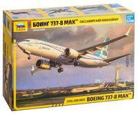 "Сборная модель ""Пассажирский авиалайнер Боинг 737-8 MAX"" (масштаб: 1/144)"