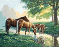 "Картина по номерам ""Лошади у ручья"" (410х510 мм; арт. DMS-91159)"