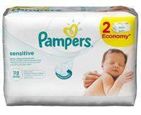 """Влажные салфетки детские """"Pampers Sensitive"""" (2х56 шт.)"""