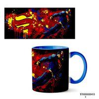"""Кружка """"Супермэн из вселенной DC"""" (413, голубая)"""