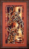 """Вышивка бисером """"Африка. Жирафы"""""""