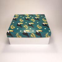 """Подарочная коробка """"Туканы"""" (19x19x7,5 см)"""
