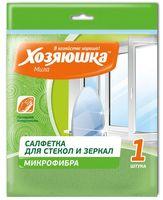 """Салфетка для уборки из микрофибры """"Для стекол и зеркал"""" (300х300 мм)"""