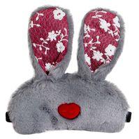 """Маска для сна """"Bunny heart"""" (серая)"""