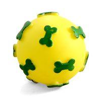 """Игрушка для собак с пищалкой """"Мяч с косточками"""" (6 см)"""
