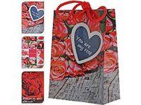 """Пакет бумажный подарочный """"I Love You"""" (в ассортименте; 11х16х6 см; арт. APF510260)"""