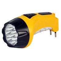 Аккумуляторный светодиодный фонарь 15+10 LED с прямой зарядкой Smartbuy (желтый)
