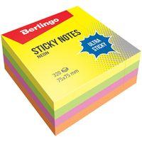 """Стикеры """"Berlingo"""" (75х75 мм; 320 листов; разноцветные)"""