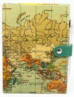 """Блокнот с черной бумагой """"Карта мира"""" нелинованный"""
