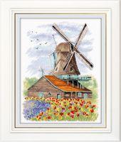 """Вышивка крестом """"Ветряная мельница. Голландия"""" (190x240 мм)"""