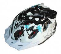 """Шлем велосипедный """"Diablo"""" (L; белый/чёрный)"""