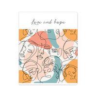 """Тетрадь полуобщая в клетку """"Love and Hope"""" (48 листов)"""
