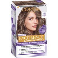 """Крем-краска для волос """"Excellence Cool Creme"""" тон: 7.11, ультрапепельный русый"""