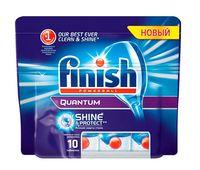 Таблетки для посудомоечных машин FINISH Quantum PowerBall (10 шт)