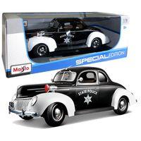 "Модель машины ""Ford Deluxe - Police"" (масштаб: 1/18)"