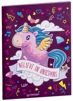 "Блокнот ""Believe in unicorns"" (А6)"
