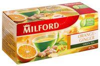"""Чай зеленый """"Milford. Апельсин-имбирь"""" (20 пакетиков)"""