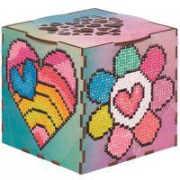 "Алмазная вышивка-мозаика ""Шкатулка. Семицветик"" (105х105х105 мм)"