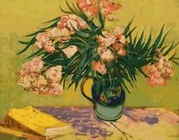 "Картина по номерам ""Ван Гог. Ваза с олеандрами и книгами"" (400х500 мм)"