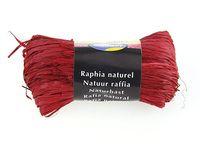 """Подарочная лента """"Natural Raffia"""" (моток; цвет: красный)"""
