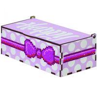"""Алмазная вышивка-мозаика """"Шкатулка. Хеппи розовая"""" (150х80х60 мм)"""