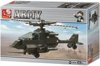 """Конструктор """"Сухопутные войска. Вертолет военный"""" (158 деталей)"""