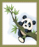 "Вышивка крестом ""Панда на ветке"" (200х250 мм)"
