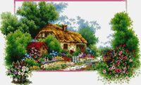 """Алмазная вышивка-мозаика """"Домик в лесу"""" (650х400 мм; арт. 7713088)"""