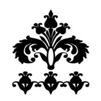 """Трафарет пластиковый """"Дамаск"""" (2 шт; арт. PLD-30625)"""