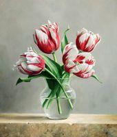 """Алмазная вышивка-мозаика """"Распускающиеся тюльпаны"""" (400х470 мм)"""