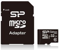 Карта памяти micro SDHC 32Gb Silicon Power Class 10 Superior UHS-I (с адаптером SD)