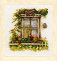 "Вышивка крестом ""Окно в цветах"" (110х120 мм; арт. 0162523-PN)"