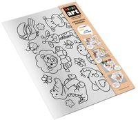 """Набор для рисования """"Коврик-раскраска. Африканские зверюшки"""""""