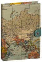 """Блокнот с белой бумагой """"Карта мира"""" нелинованный"""