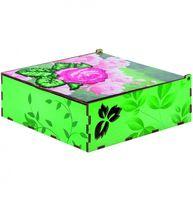 """Алмазная вышивка-мозаика """"Шкатулка. Цветочная"""" (155х155х60 мм)"""