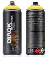 """Краска аэрозольная """"Black. Kicking Yellow"""" (желтая; 400 мл)"""