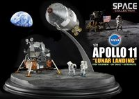 "Набор миниатюр ""Apollo 11 Lunar Landing CSM Columbia & LM Eagle & Astronauts"" (масштаб: 1/72)"