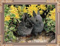 "Вышивка бисером ""Кролики"" (270х360 мм)"