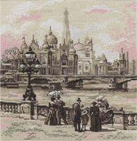 """Вышивка крестом """"Париж. На мосту Александра III"""" (230x250 мм)"""