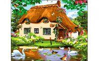 "Картина по номерам ""Деревенский домик"" (400x500 мм)"