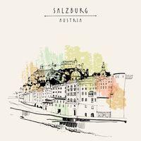 "Репродукция на холсте ""Зальцбург. Австрия"""