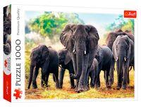 """Пазл """"Африканские слоны"""" (1000 элементов)"""