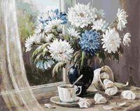 "Картина по номерам ""Хризантемы - цветы запоздалые"" (400х500 мм)"