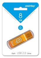 USB Flash Drive 8Gb Smartbuy Glossy series (Orange)