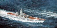 "Сборная модель ""Броненосец Russian Navy Nuclear Guided Missile Cruiser Admiral Ushakov Ex-Kirov"" (масштаб: 1/700)"