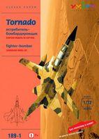 """Сборная модель из картона """"Истребитель-бомбардировщик Tornado. Песочный"""" (масштаб: 1/72)"""